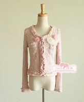 Ladies elegant three-dimensional flower popper all-match short jacket top