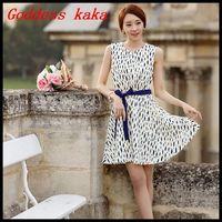 Free shipping new 2014 women summer tank dress casual chiffon sleeveless dress A049
