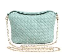 2014 brand women messenger bags fashion PU leather handwoven mini chain shoulder bags elegant ladies small cross-body bags