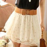 Free shipping 2014 New Womens fashion sexy chiffon high waist mini skirts female club wear girls skrits quality guaranteed KR580
