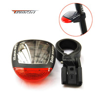 21130  New 2 LED Solar Power Bike Bicycle LED Tail Rear Light Lamp TK0269 F