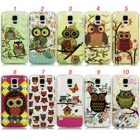 New Arrival Cute Cartoon Owl Animal Soft TPU Soft Back Cover Case for Samsung Galaxy S5