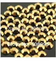 1440pc 1.9-2.0mm Top Quality SS6 Mine Gold 3D Body Shoe Nail Art  Flatback Rhinestone Decoration glitter DIY Bead Jewerly