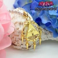 Free Shipping YuGiOh Millennium Pendants Refined Copper+18K Gold Necklace Yu-Gi-Oh! Ryo Bakura Cosplay Gift Millennium Item
