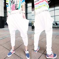 CR-02 Men Sports pants Casual pants Hip hop pants White joggers Harem pants men Drop crotch pants men jogging harem sweatpants