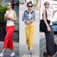 free shipping Shenp 919 modal cotton placketing half-length hip slim straight slim skirt