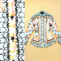 2014 spring and summer fashion female Camouflage plaid print long-sleeve shirt female shirt ol all-match