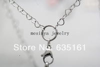 10pcs 30'' 316 Stainless steel 3.7mm width new style heart link chain for floating charm glass locket keepsake,no locket