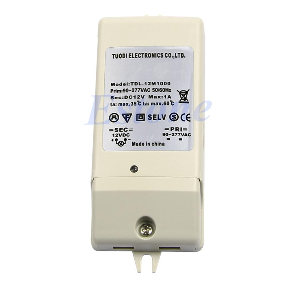 New LED Driver Power Supply Adapter Electronic Transformer DC 12V 1A(China (Mainland))