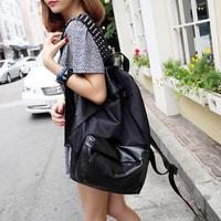 Fashion lovers 14 laptop bag black rivets male Women backpack travel school bag -free shipping -free shipping