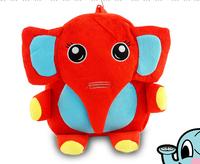 2014 new hot elephant kids cartoon daily backpacks children school bag plush student bags for boy & girl,