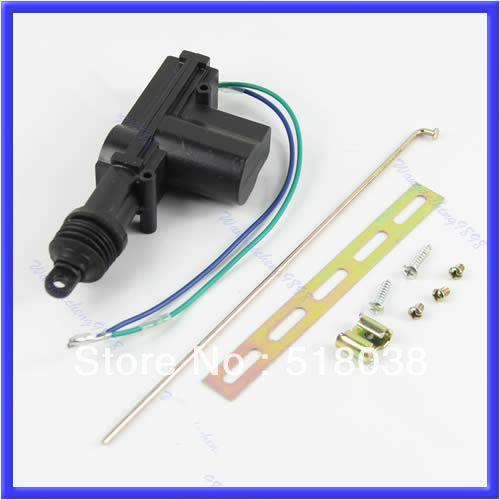 Universal Car DC 12V 2 Wire Heavy Duty Power Door Lock Actuator Auto Locking System Motor With Hardware(China (Mainland))