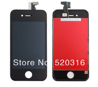 For iPhone 4s LCD Display+Touch Screen digitizer+Frame assembly,Free Shipping,100% gurantee Original LCD,best quality (Black)