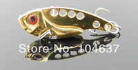 Hot selling 12PCS Metal VIB Spoon Metal Lures 4cm 7g10# (VIB015) Fishing Lure Spoon Metal Lures Hard Bait free shipping