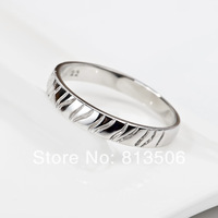 GNJ0187 2014 NEW arrival Wholesale Fashion 925 sterling silver ring Tiger stripes ring for women Free shipping