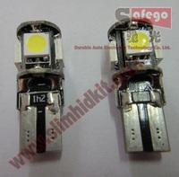 10pcs LED W5W T10 canbus 5050 5 smd led  T10 194 168  5smd T10 led canbus 5050 error free white light lamp bulb