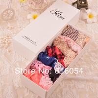 Milk silk viscose smallerone laciness panties women's gift box set panties t010