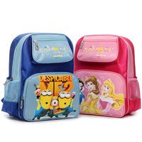 New 2015 Children School Bags Despicable Me Minions Kids Backpack Children Cartoon Bag Print Princess Children Backpacks