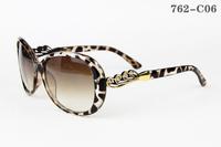 762 Leopard Frame Diamond Decoration Women Sunglasses Classic Brand Designer 100%UV Protection Woman's Sun Glasses Girls Eyewear