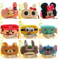 Cartoon animal plush pencil case is big capacity of the panda bear mint as multifunctional pen bag  hot sale