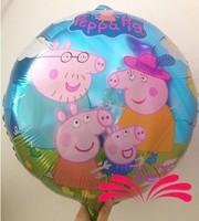 2014 New arrive 50pcs/lots wholesales Peppa Pig foil balloon Birthday party decoration cartoon balloons Hot sale