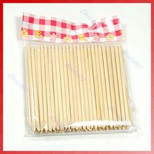 G104Free Shipping 100X Nail Art Design Orange Wood Stick Cuticle Pusher Remover Manicure Care(China (Mainland))