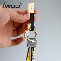Free shipping Ms expensive gas m028 ShanZuan leather cowhide car key chain high-end creative South Korea Christmas