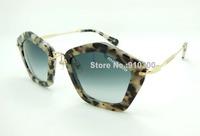 1:1 MUMU 2013 newest model SMU060 FREE orignal case leopard print high quality acetate frame Luxury 1 by 1 butterfuly shape