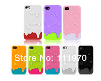 Free shipping!Phone cases 2014 hot selling 3d Melt Ice cream candy color Skin Hard Case Cover for Apple Iphone 5 5s Protect Cell