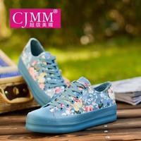 2014 low platform canvas shoes female platform cotton-made shoes female women's single shoes