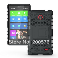 Mix color TPU&PC case for Nokia x  Dual Armor case with Stand Mobile Cell phone case  For Nokia x In Stock Free Shipping 1 pcs