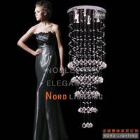 Stair lamp long pendant light modern fashion crystal personality led lighting fitting