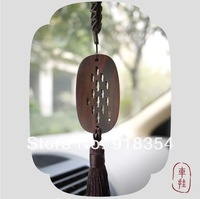 FUYATANG designer brand DIY products luxury red wood car pedant decoration  free shipping