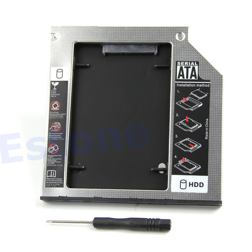 Brand New Universal 9.5mm SATA to SATA 2nd HDD Hard Disk Drive Caddy Bay(China (Mainland))