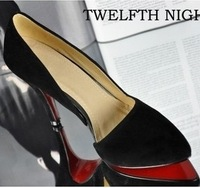 TCH-1029 2014 Hot ladies high heels sandals women sexy pumps pointed toe shoes side empty summer wear