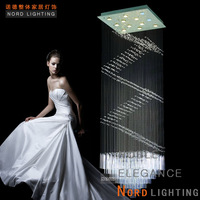 Large pendant light modern brief fashion stair lamp led crystal lamps