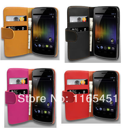 Flip Stand PU Leather Case Smart Mobile Phone Bag Wallet Protective Skin For Samsung Galaxy Nexus Prime I9250(China (Mainland))