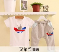 Han edition 2014 cotton children's cartoon short sleeve dress wholesale free shipping