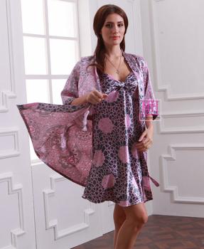 2014 Summer Тонкий Фиолетовый Leopard Printed Женщины Robes Printed, Spring Half ...