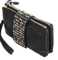 new arrive Hot selling PU Leather fashion designer Rivet bag women wallet Bag fashion women evening bags