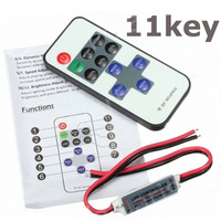 RF Remote Controller H3#R DC 12V 11 Keys Mini Dimmer for Led Single Color Strip free shipping