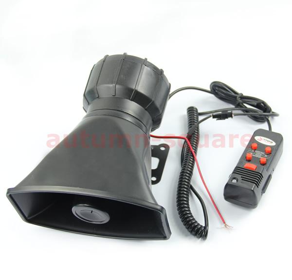 Car Electronic Warning Siren Alarm Police Firemen Ambulance Loudspeaker with MIC(China (Mainland))
