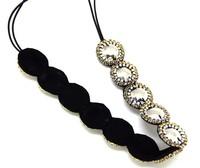 freeshipping wholesale retail fashion star round silver beads shining gems headband popular fashion hair accessories
