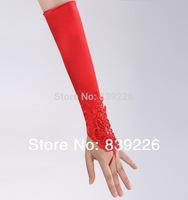 W-5.6 New Arrival Cheap Wedding Bridal Gown Dress red Gloves Crinoline Wedding Accessories