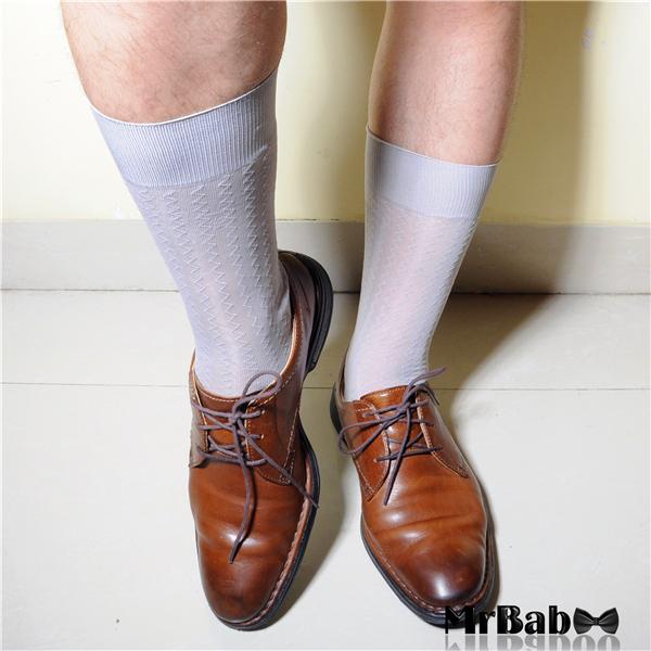 SA23 Men's Gray Sheer Socks,Men's Sexy Striped Gray Color Silky TNT Formal Socks(China (Mainland))