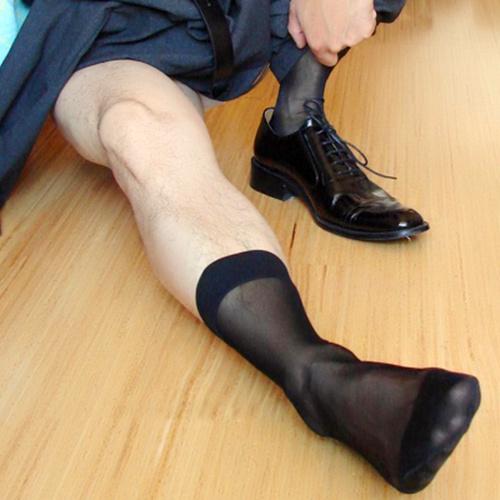Mens Sheer Nylon Socks 25