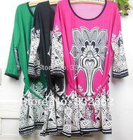 Free shipping 2014 new women fashion large size dress wholesale bohemian flower hot drill waist dress