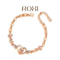 Wholesale ROXI Fashion Accessorie Jewelry Full CZ Diamond Austria Crystal with SWA Element Heart Bracelet for Women