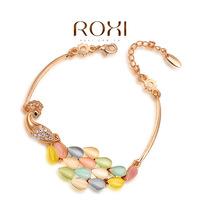 Wholesale ROXI Fashion Accessorie Jewelry Full CZ Diamond Austria Crystal with SWA Element Peacock Bracelet for Women