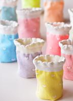 Brief double high quality socks ice cream love stripe cream dumplings sock 100% cotton socks